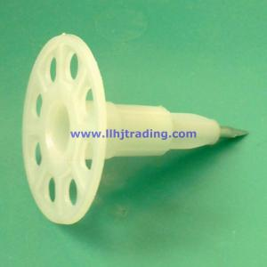 China Actuated Tool Installed Plastic Insulation Wall Anchors With Premounted Steel Nail on sale