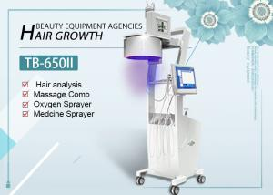 China LED Lights 650nm 808nm Diode Laser Hair Growth Machine With Hair Skin Analyzer on sale