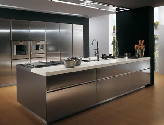 Modern Fashion Outdoor Kitchen Cabinet Stainless Steel Cupboards Images