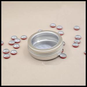 China 100g Window Aluminum Cosmetic Containers Jewelry Powder Box Tea Candy Food Jar on sale