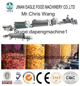 China CE Certified Automatic and Continuous Crispy Corn Flakes Extruding Machine on sale