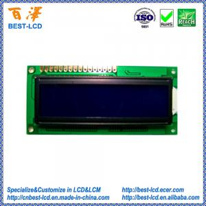 China Standard 5.0V 16x2 STN Blue Negative Transmissive COB Character LCD Display Module For Printer / Electrical Price Tag on sale