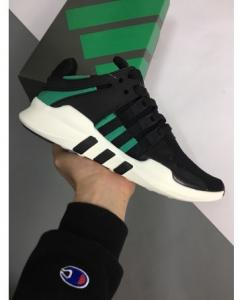 China Adidas ADV 91 Black&Green Running Shoes on sale