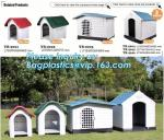Outdoor garden cage used plastic pet house kennel for large dog, Waterproof Plastic Outdoor Dog House Dog Kennels For Do