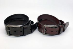 China Genuine Mens Casual Leather Belt 3.8cm Width With Inlaid Leather Buckle on sale