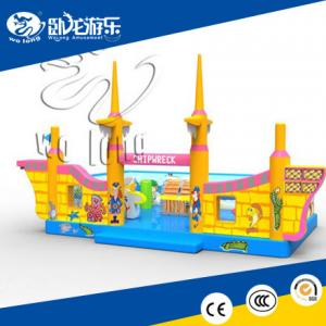 China new design hot sale Pirate ship inflatable bouncer on sale