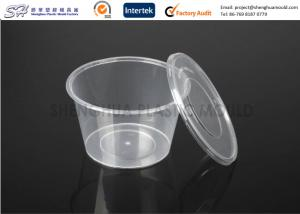 China Disposable plastic storage food containers with lids , round small PP Food Boxes on sale