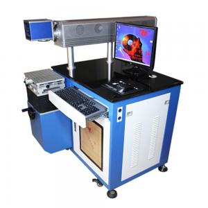 China Plastic Materials Laser Marking Hair Dryer CO2 Marking Machine 3D Dynamic Focusing on sale