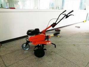 China 6.5HP Gas Powered Pull Behind Tiller Farm Rotary Tiller With Belt Drive on sale