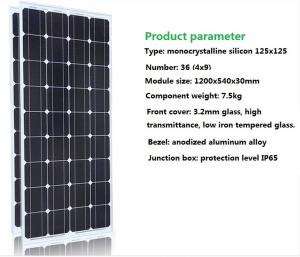 China LEDs Solar Power 100W watts single crystal solar panels photovoltaic power generation system 12V home supplier