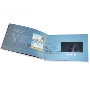 China 2GB LCD Video Brochure Custom Gift Greeting Cards 7'' Rechargeable Lithium Batteries on sale