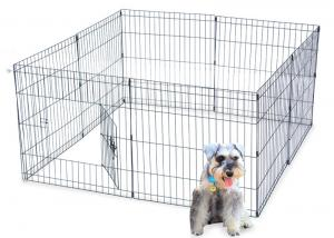 China Dog Stainless Steel Mesh Box Playpen Crate Fence 8 Panel 42 inch Tall on sale