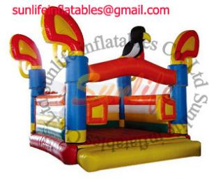 China Attractive Colorful Inflatable Commercial Bouncy Castle , Moonwalk Bounce House for hire on sale