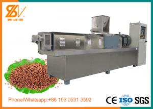 China Single Screw Floating Fish Feed Extruder Machine Stainless steel 304 Material on sale
