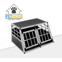 China Large Dog Crate Sturdy Cage Car Transport Double Carrier Partition Wall Safe on sale