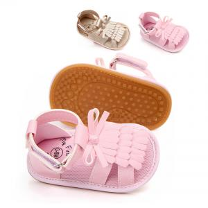 China Rubber sole hot summer PU Leather baby slipper baby girl shoes sandals on sale
