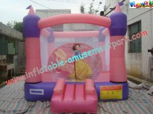China Pink Inflatable Bounce Houses , CE / EN14960 Jumping Castle Rentals on sale