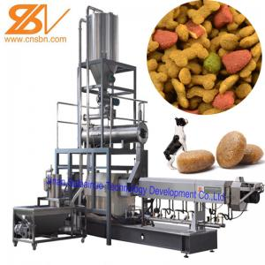 China Pet Food Extruder Machine Puffing Snack / Dog Food Processing Plant on sale