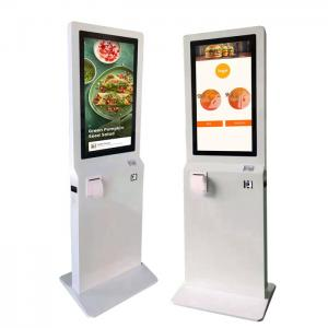 China LCD Capacitive Touch Screen Self Payment Kiosk 450cd/M2 With QR Scanner on sale