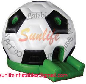 China Huge Soccer Inflatable Bouncy Castle Hire , inflatable jumping houses on sale