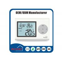 China Water Heating Boiler Controller Gas Heater Thermostat Digital Programmable White Backlight on sale