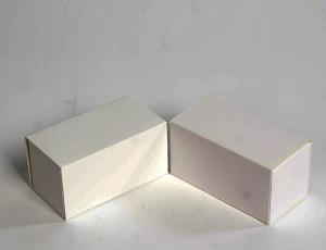 China Folding Type White Candy Boxes Thin 	Ivory Card Paper Empty Candy Boxes on sale