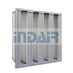 China Stainless Steel Frame V Cell Filters Large Air Volume For Central Air Conditioner on sale