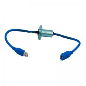 China Mini USB Slip Ring with Low Electrical Noise and Aluminium Alloy for USB3.0 Signal Transmission on sale