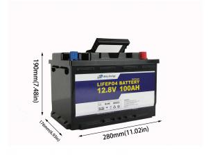 China 1280Wh 100 Amp Hour 12 Volt Lifepo4 Battery For Solar Power Storage on sale