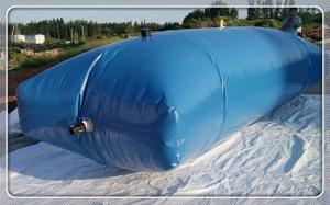 China Full size foldable customized tarpaulin water storage tank with 100000 liter capacity for irrigation supplier