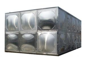 China 304 Stainless Steel Water Storage Tanks With Stainless Steel Mounting Panel on sale