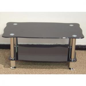 China black glass top coffee tables/center table xyct-049 on sale