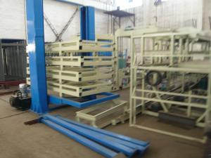 China Light Weight Wall Panel Forming Machine for Mgo / Mgcl / Fiber Glass Mesh Raw Material on sale