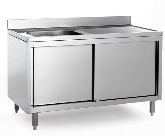 Hotel Commercial Single Bowl Stainless Steel Sinks Cabinet Images