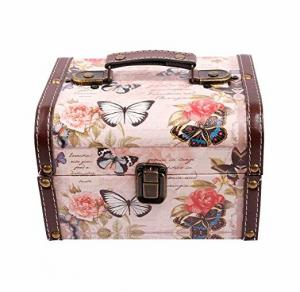 China Wooden Small Gift Boxes with Hasp Decorative Jewelry Keepsake Butterfly Box for Kids Girls Women Gifts on sale