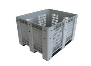 China Ventilated  Folding Plastic Pallet Boxes  Recyclable Square Plastic Crates on sale