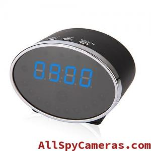 China 1080P 5MP Pixels 140 Degree Wifi Spy Alarm Clock Camera Motion Detection For Android and IOS on sale