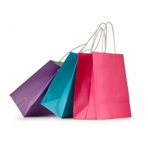 China Biodegradable Printed Kraft Paper Bags Plastic / Water Resistant Coatings Available on sale
