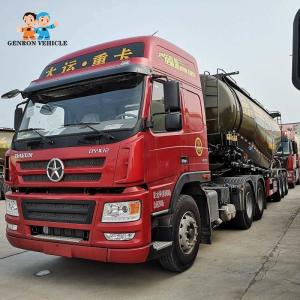 China 3 axles 12 wheels 45tons 55tons powder dry bulk cement fly ash tank truck trailer export to Ghana, Guinea, Uganda, Sudan on sale