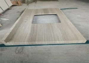 Quality Wooden Marble Prefabricated Vanity Countertops Elegant Earance For Hotel