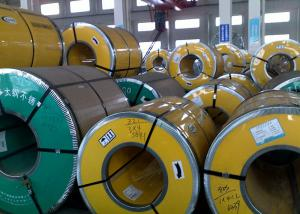 China Thickness 0.3 - 3.0mm Steel Strip Coil , 400 Series Stainless Steel Sheet Metal Coil on sale