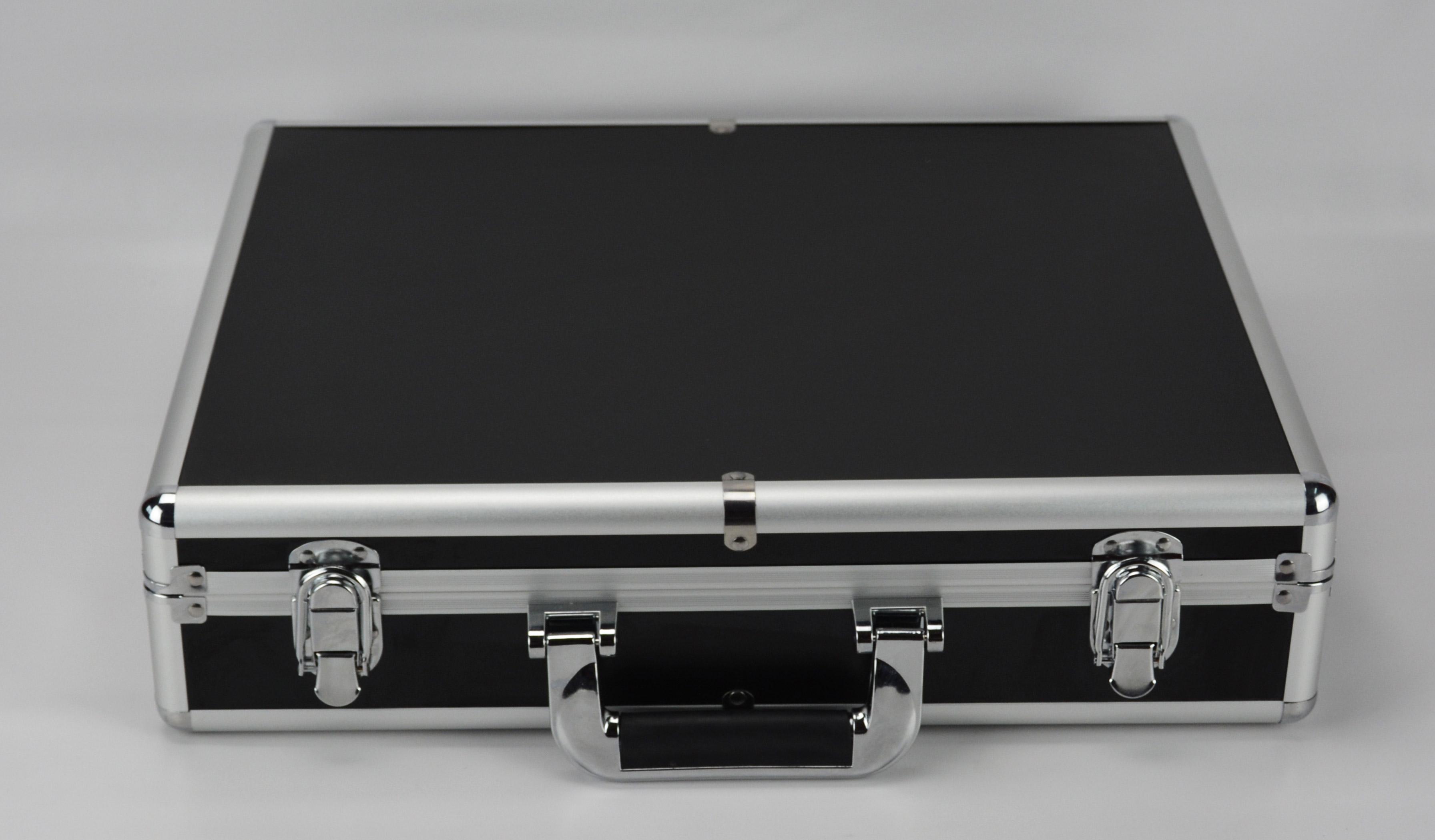 Large Hard Aluminium Flight Case Tool Box Storage Briefcase Blue Secure Quality