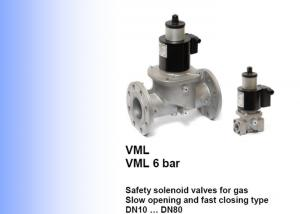 China Elektrogas Brand VML Model  Safety Solenoid Valve DN10 To DN80 Size on sale