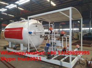 China China made high quality and lower price 10cbm mobile skid lpg gas storage tank with digital weighting scale for sale on sale
