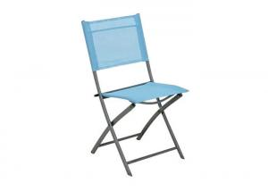 China Textilene Steel Camping Foldable Chair Metal Folding Picnic Chair OEM ODM Supported on sale