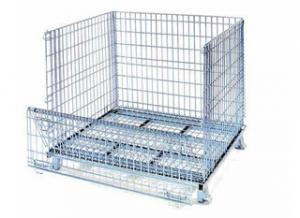 China Stackable welded customied metal wire mesh crate on sale