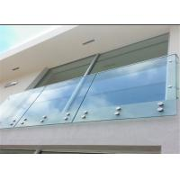 China Satin wall mounted standoff pin standoff for exterior glass balcony grill design on sale