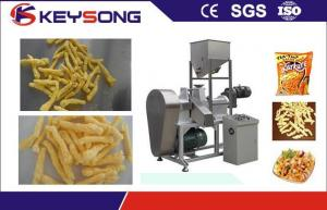China Kurkure Chips Cheetos Making Machine , Fried Corn Curls Food Extrusion Equipment on sale
