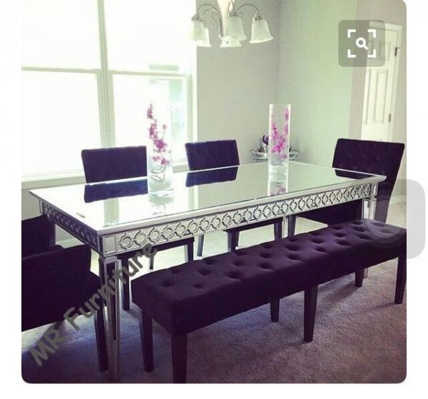 Sophia Silver Gl Dining Table 160