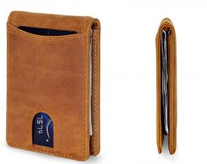 China Minimalist Stylish Leather Wallet / Money Clip Wallet With Front Pocket on sale